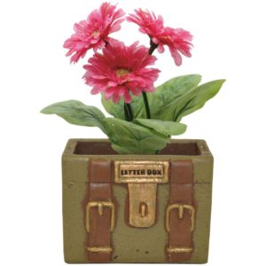 Cermaic House Gift Green Letterbox Flower Pot (Greenbox)