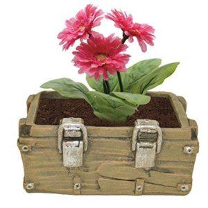 Ceramic House Gift Novelty Green Chest Flower Pot (Green)