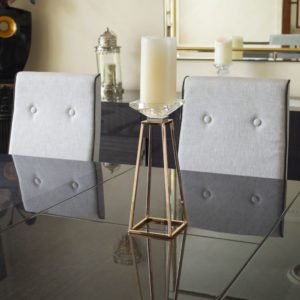Abstract Metal Pillar Candlestick Tealight Candle Holder Lifestyle