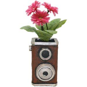 Speaker Flower Pot With A Flower