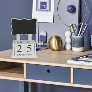 Home Office Desk Top Memo Blackboard / Perpetual Calendar