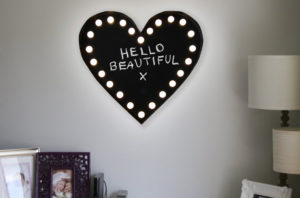 New Wall Mounted Decorative Blackboard / Chalkboard LED Light Love Heart Sign