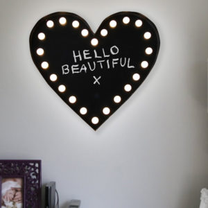New Wall Mounted Decorative Blackboard / Chalkboard LED Light Love Heart Sign