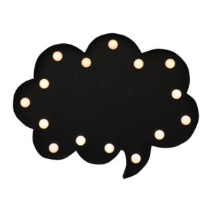 New Wall Mounted Decorative Blackboard /Chalkboard LED Light Thought Bubble