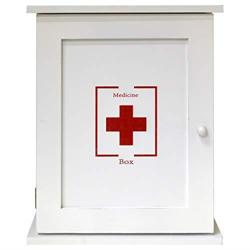 Maison Des Cadeaux White Wooden Pharmacy First Aid Box