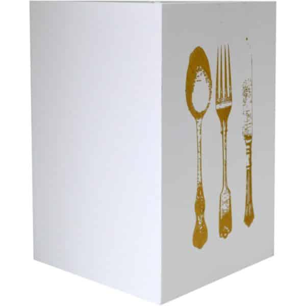 White Cutlery Utensil Organizer Holder