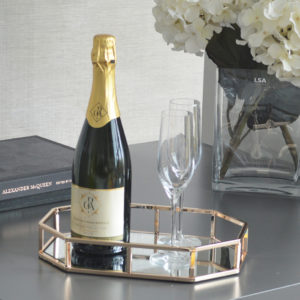 Gold Octagonal Decorative Tray Lifestyle Picture