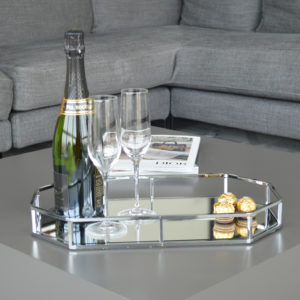 Silver Octagonal Decorative Tray Lifestyle Picture
