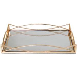 Gold Wavy Rectangular Decorative Tray Main Picture