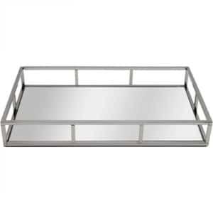 AR90 Silver Straight Rectangular Decorative Tray