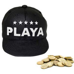 Baseball Cap Money Box Piggy Bank With Pound Coins