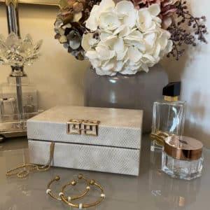 Modern Grey Jewellery Accessory Storage Box Lifestyle