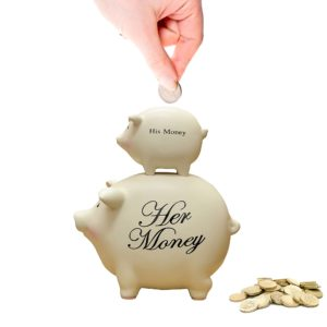 His Money and Her Money Piggy Bank Main
